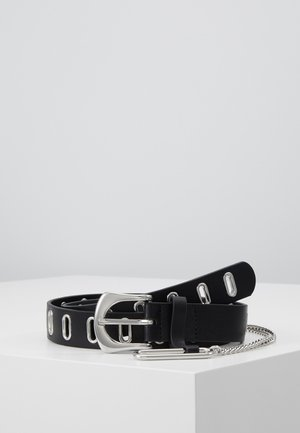 OVAL EYELET CHAIN - Skärp - black