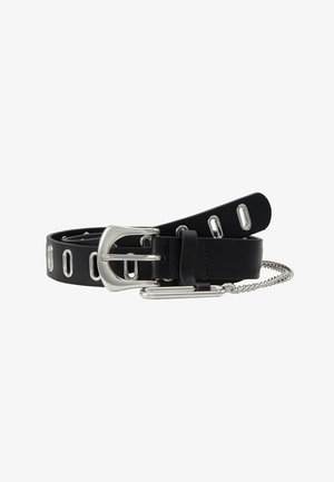 OVAL EYELET CHAIN - Belt - black