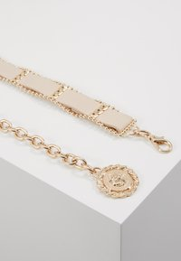 Topshop - WEAVE CHAIN LION COIN - Belt - nude - 3