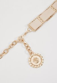 Topshop - WEAVE CHAIN LION COIN - Belt - nude - 2