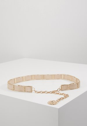 WEAVE CHAIN LION COIN - Skärp - nude