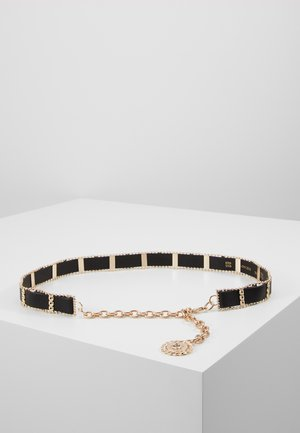 WEAVE CHAIN LION COIN - Pasek - black