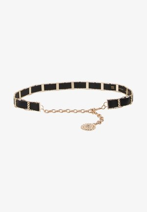 WEAVE CHAIN LION COIN - Cintura - black