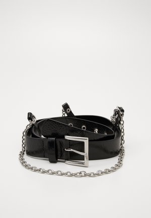 NEW HANGING CHAIN BELT - Ceinture - black