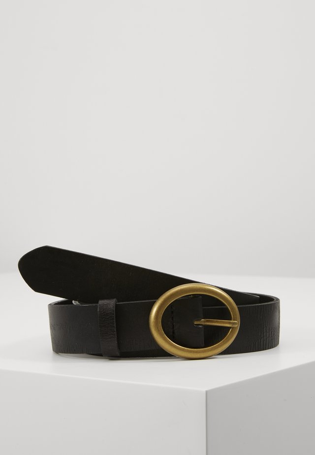 OVAL BELT - Belt - black