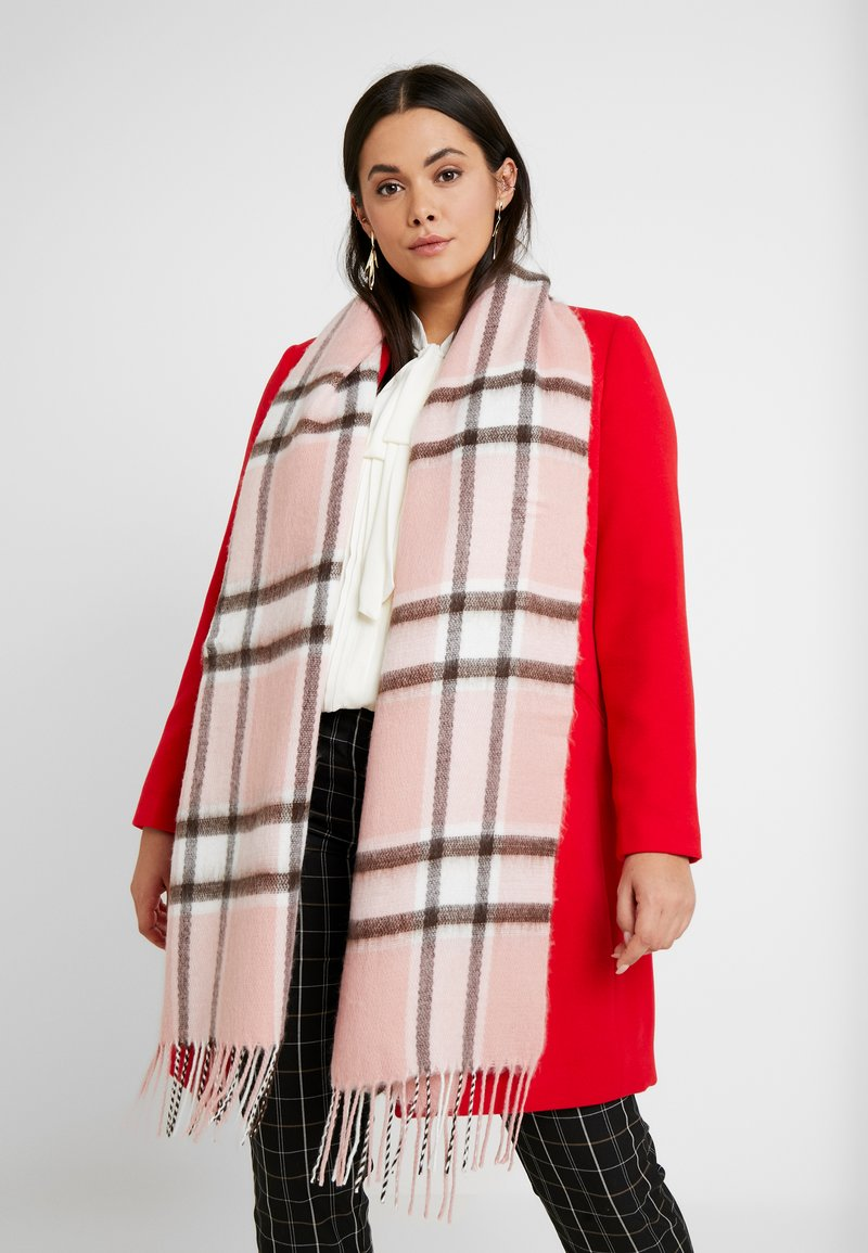 Topshop - SOFT CHECK GIRLY SCARF - Sjaal - pink