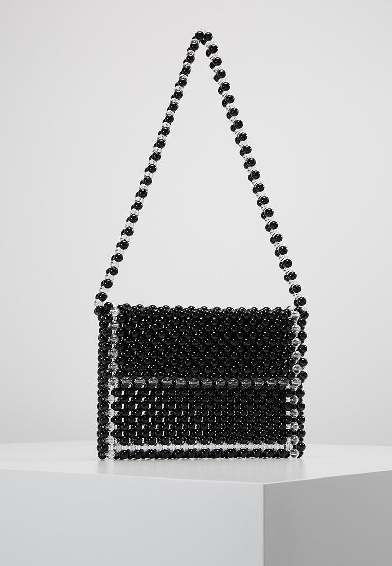 Topshop - NESSA BEADED - Handväska - black