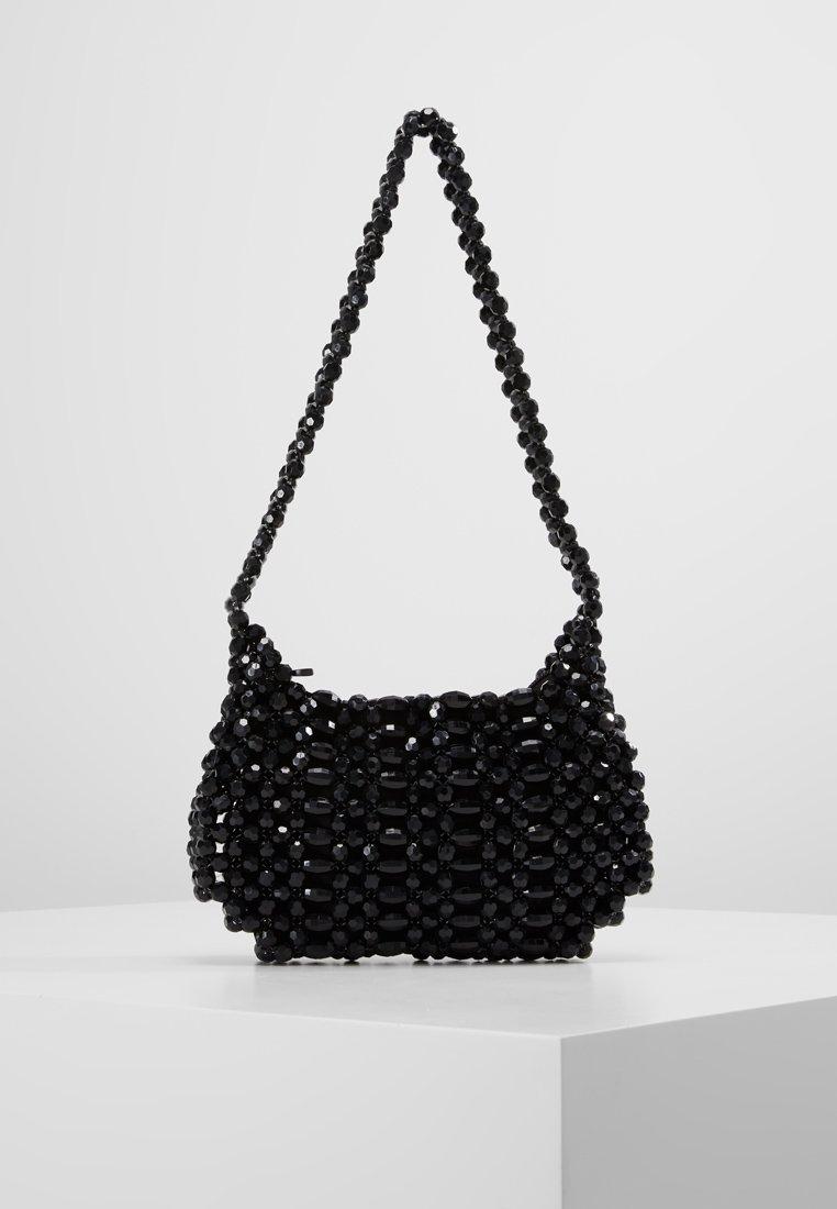 Topshop - BEY CHUNKY BEAD - Handtasche - black