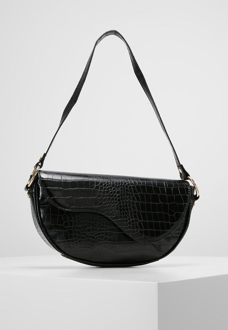 Topshop - DEMI CROC - Handtasche - black