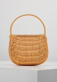 Topshop - SPLIT WICKER MINI - Handbag - natural - 2