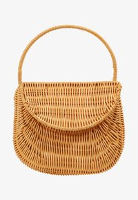 Topshop - SPLIT WICKER MINI - Handbag - natural - 5