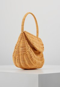 Topshop - SPLIT WICKER MINI - Handbag - natural - 3