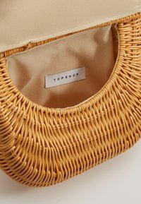Topshop - SPLIT WICKER MINI - Handtas - natural - 4