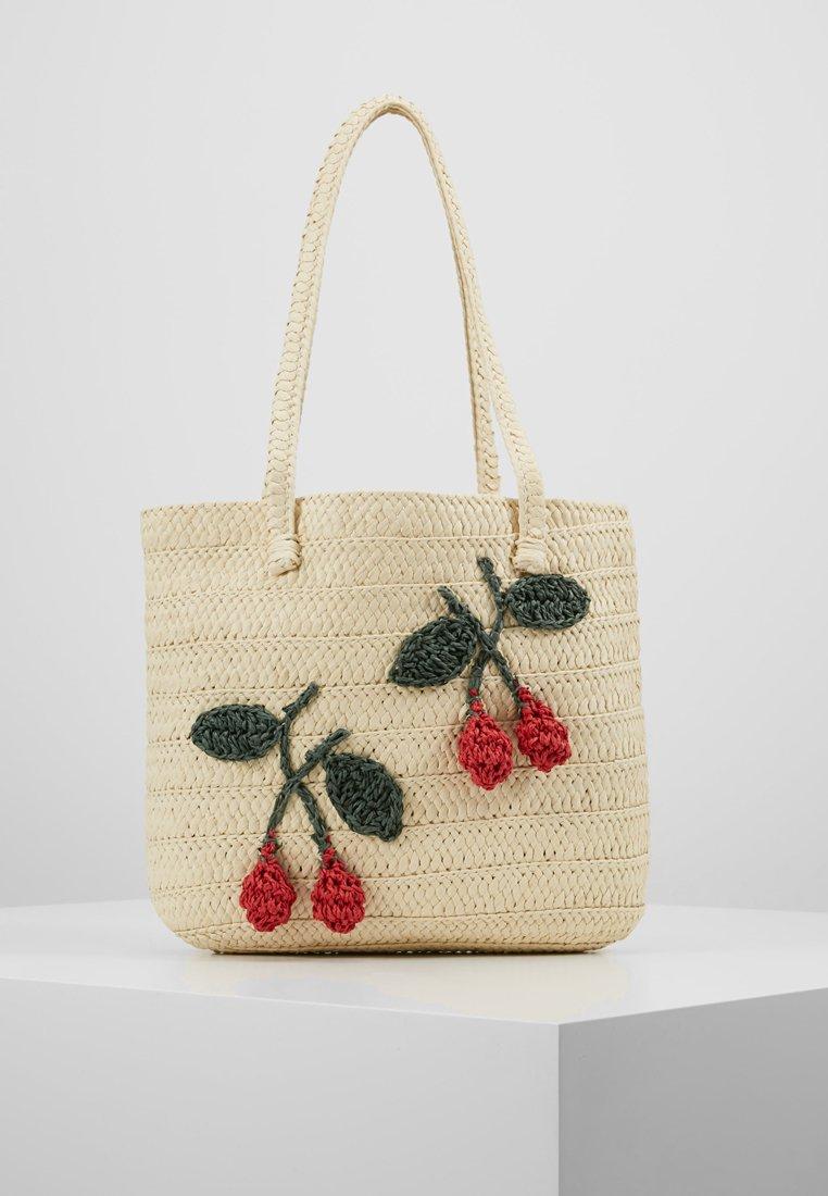 Topshop - FRUITY CHERRY TOTE - Håndtasker - natural