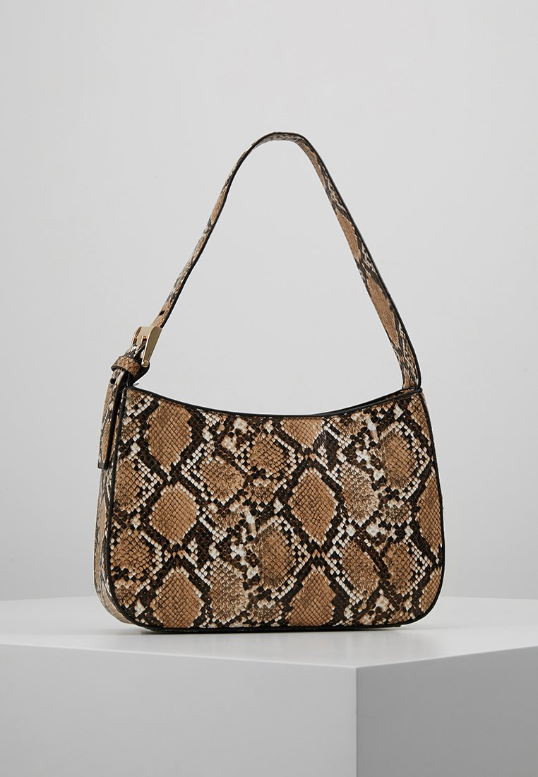 Topshop - SNAKEY MINI SHOULDER - Handtasche - natural