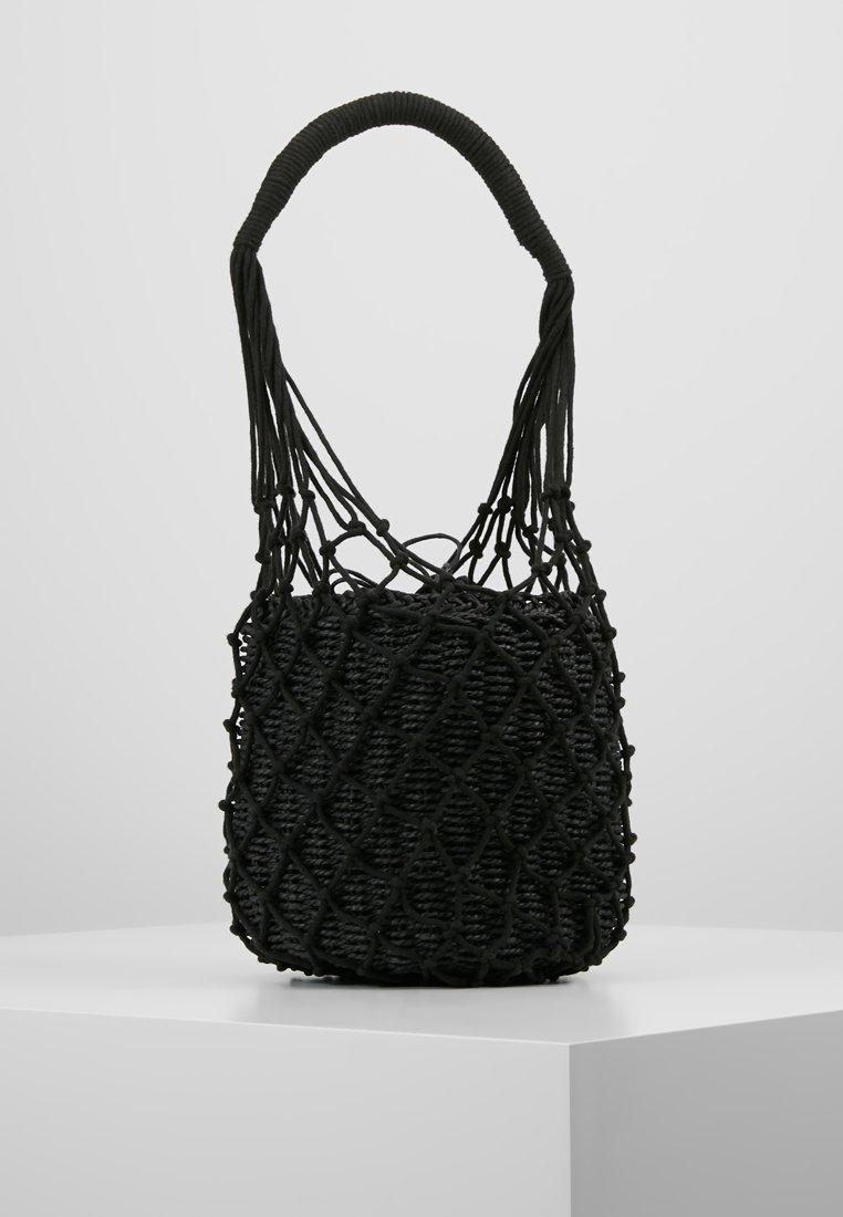 Topshop - SIREN STRING TOTE - Handtasche - black