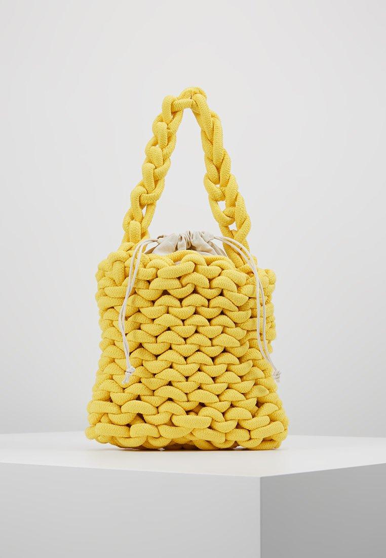 Topshop - SEATTLE ROPE SHOULDER - Handtasche - yellow
