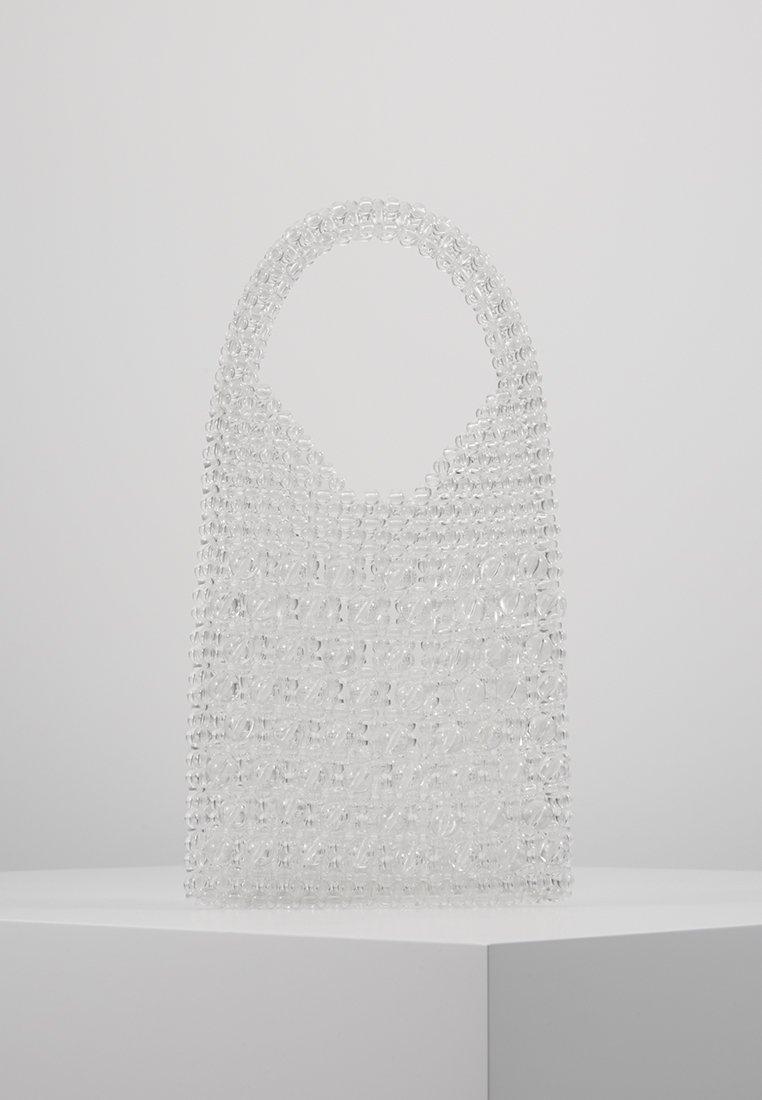 Topshop - BEADED GRAB - Håndtasker - clear