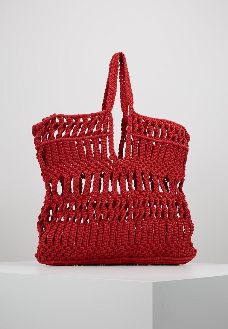 Topshop - SHAKE TOTE - Bolso shopping - red