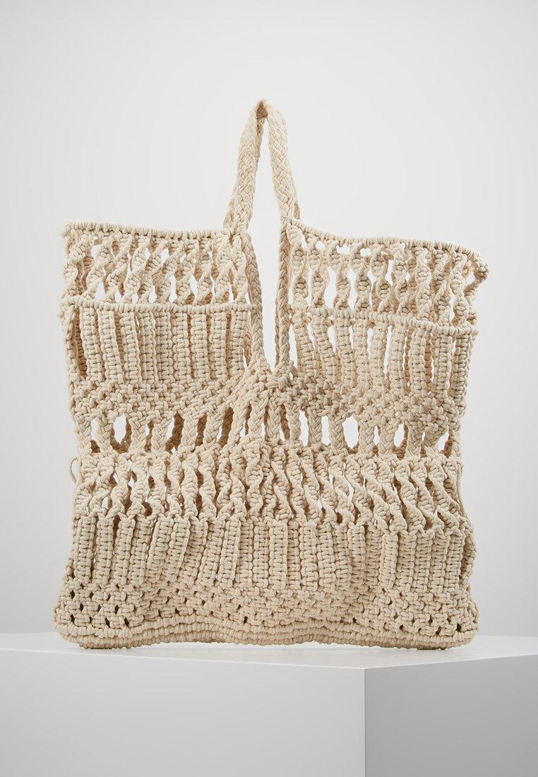 Topshop - SHAKE TOTE - Shopping Bag - natural