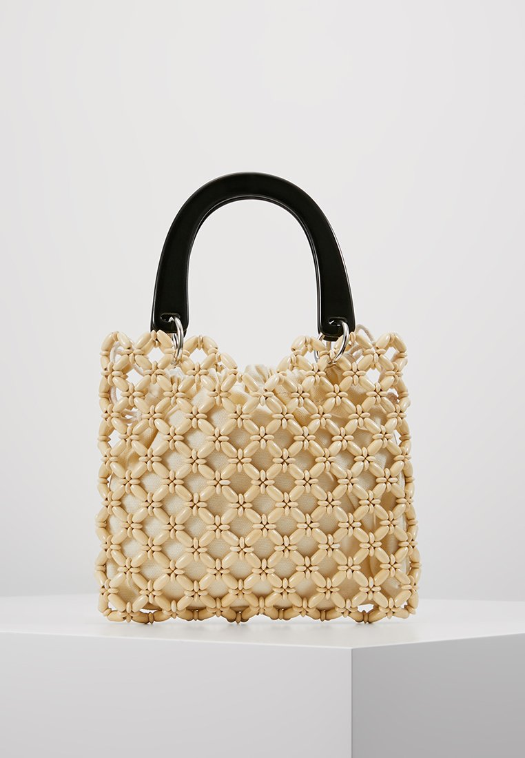 Topshop - SOUTH BEAD MINI TOTE - Borsa a mano - cream