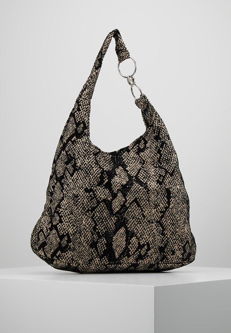 Topshop - ZAMBIA SNAKE TOTE - Tote bag - natural