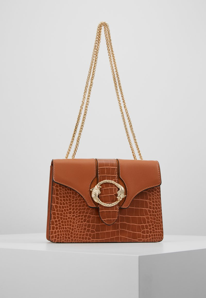 Topshop - OCEAN FISH SHOULDER - Handbag - tan