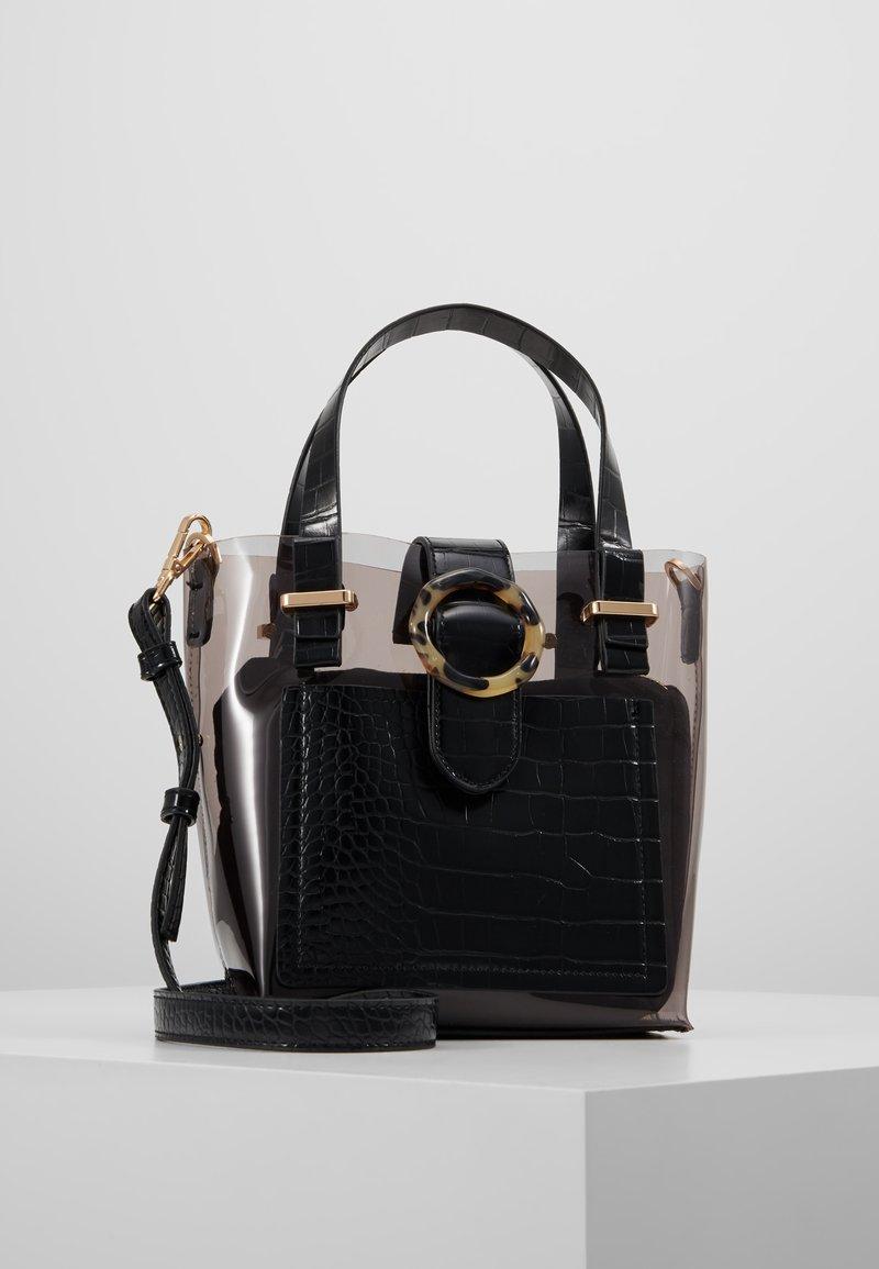 Topshop - TATE MIX TOTE - Handtasche - black