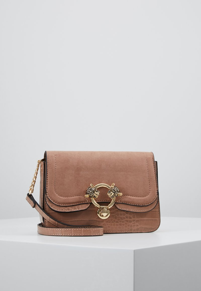 Topshop - DOUBLE PANTHER XBODY - Umhängetasche - nude