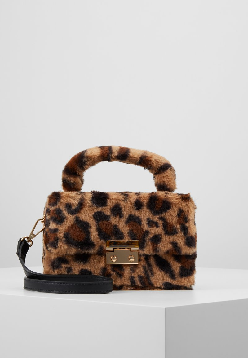 Topshop - FIZZ BOX GRAB - Borsa a mano - brown