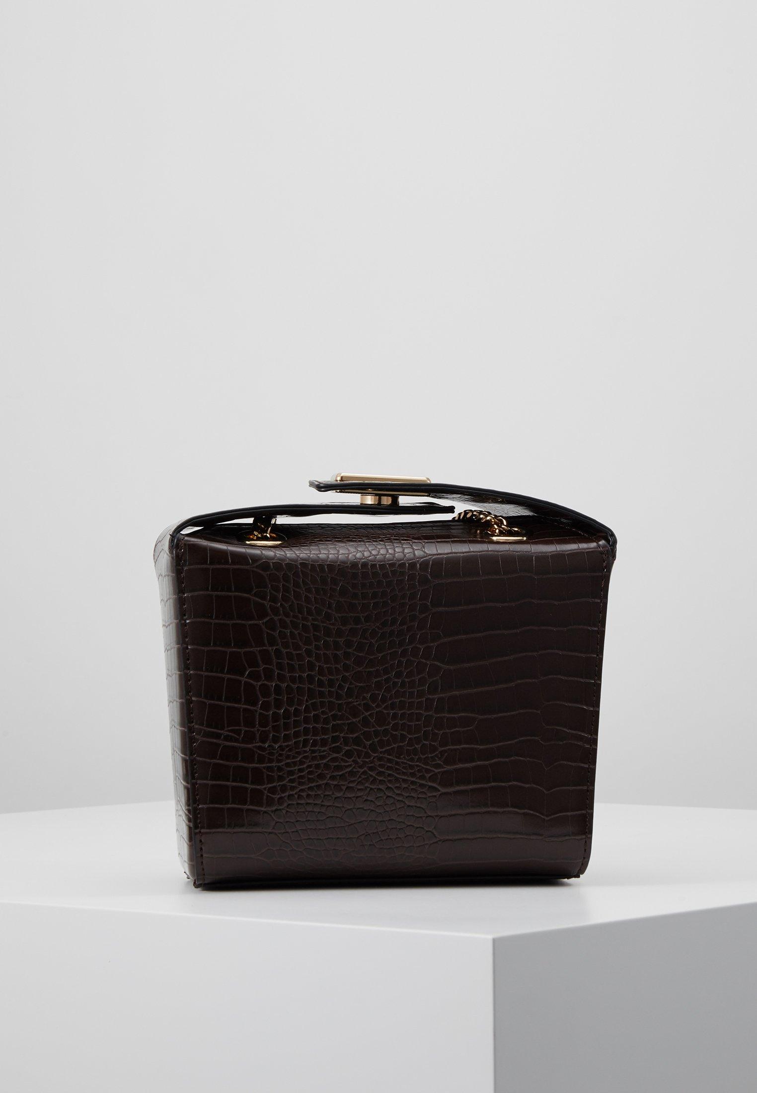 Topshop Cam Boxy - Borsa A Mano Brown GTQPV6N