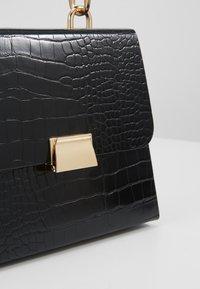 Topshop - VINTAGE BOX GRAB - Handbag - black - 6