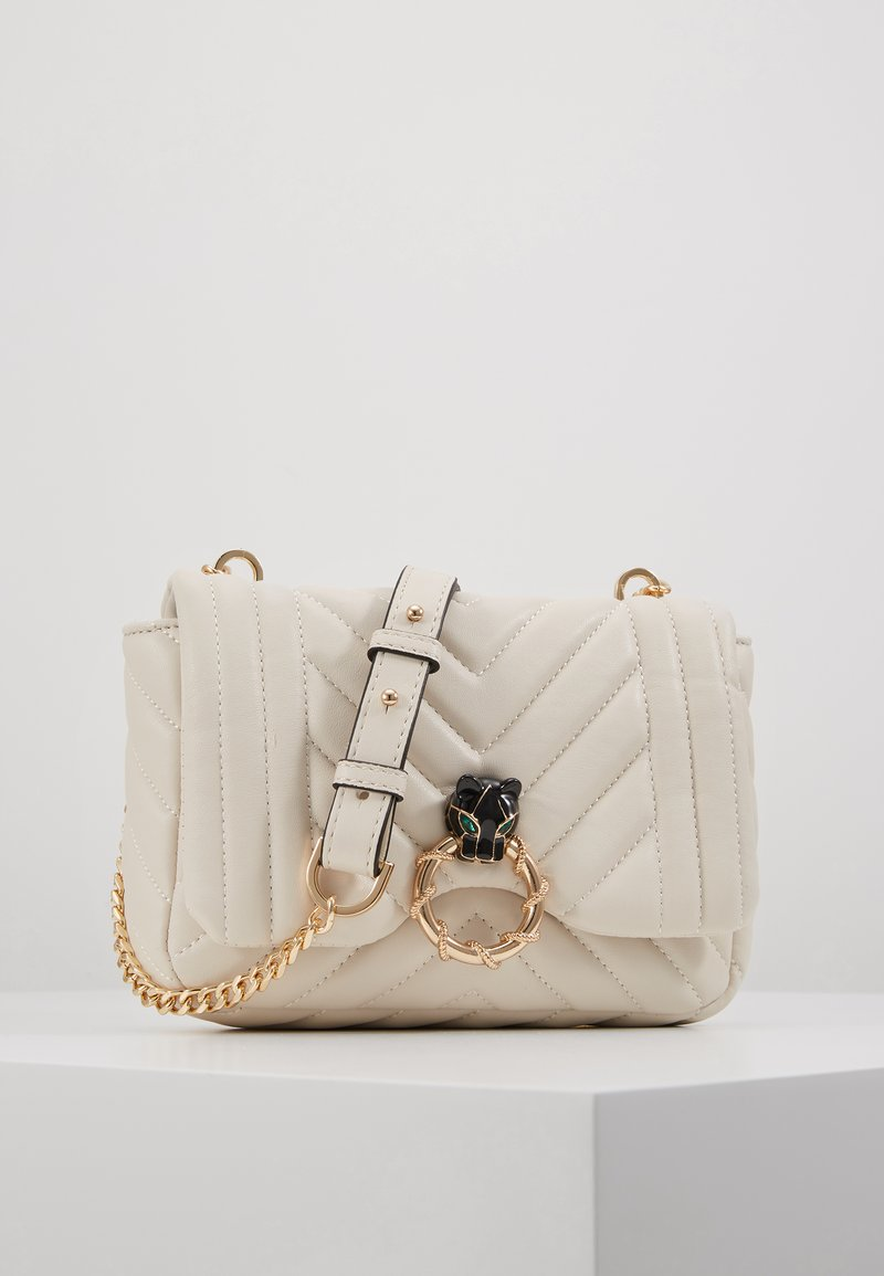 Topshop - CARL PANTHER QUILTED TROPHY - Bandolera - white