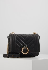 Topshop - CARL PANTHER QUILTED - Torba na ramię - black - 0