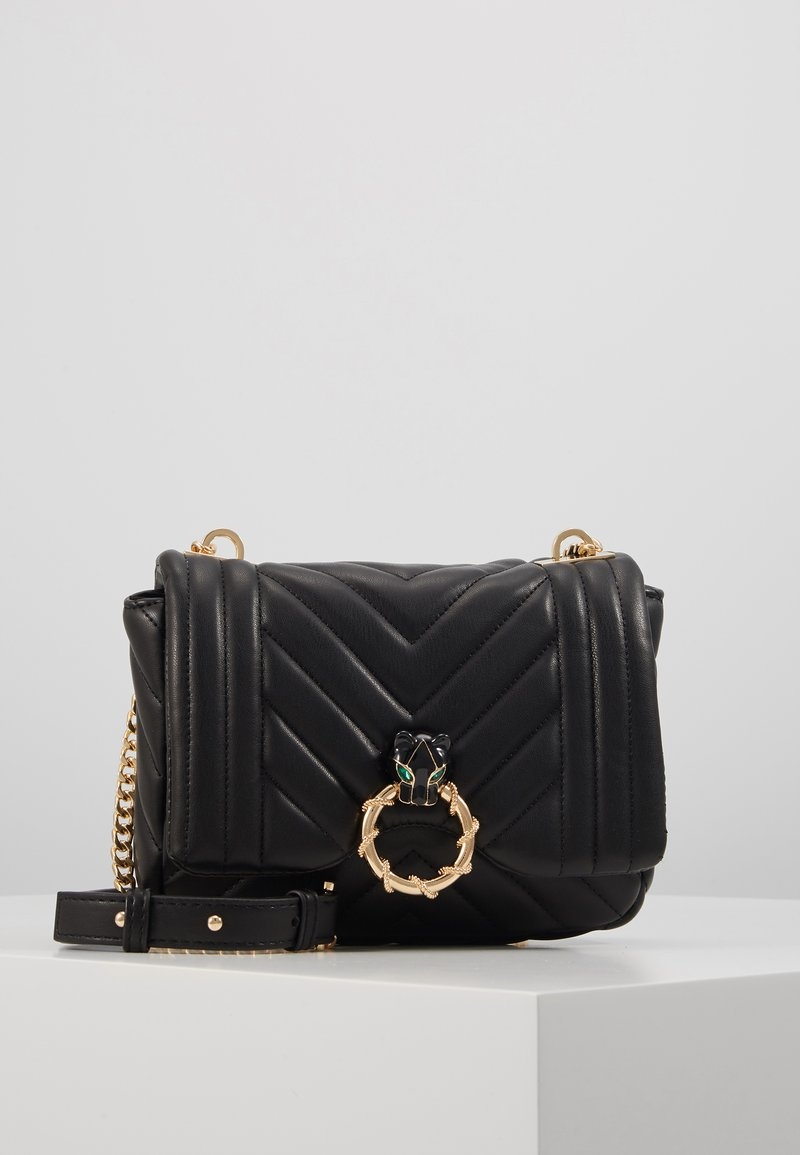 Topshop - CARL PANTHER QUILTED - Torba na ramię - black