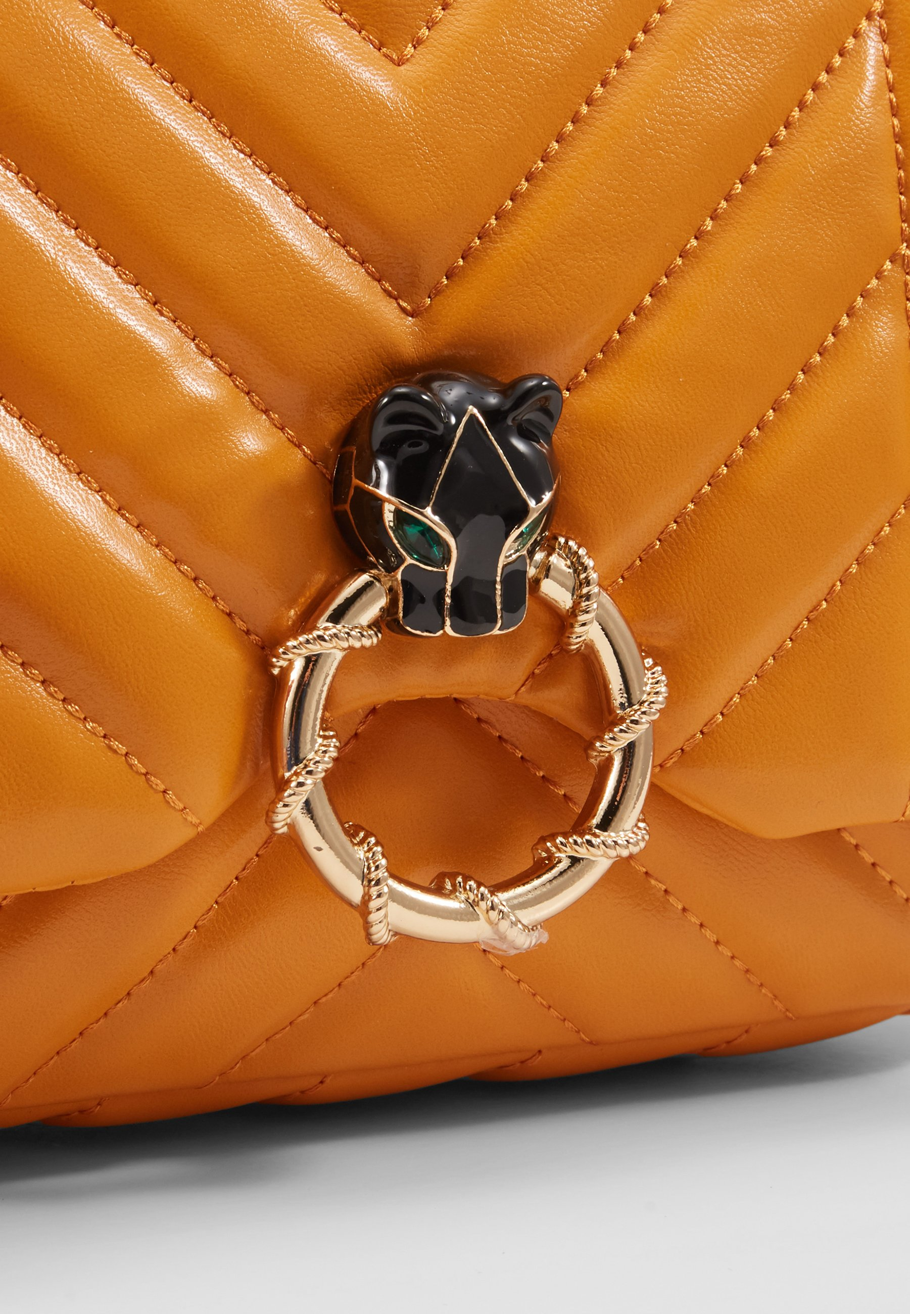 Topshop Carl Panther Quilted - Sac Bandoulière Orange