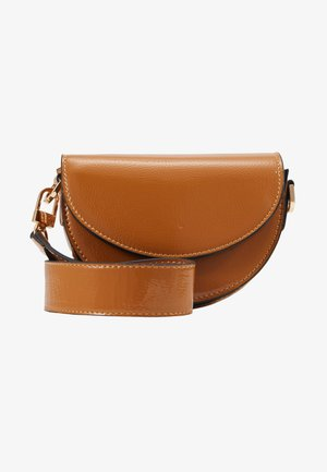 WIDESTRAP TOPSTITCH SADDLE - Borsa a mano - camel
