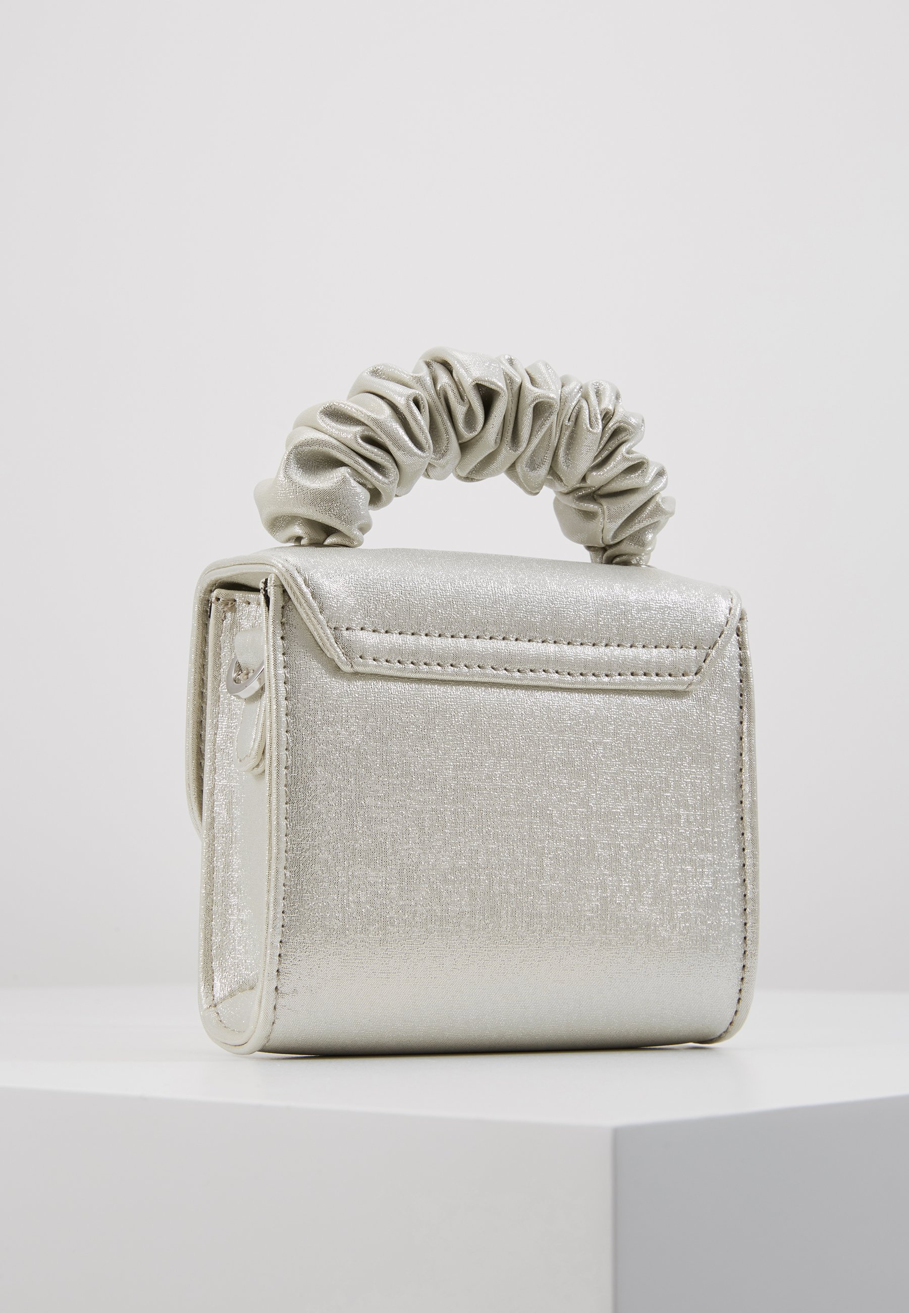 Topshop Irridescent Scruncie Handle - Sac À Main Silver
