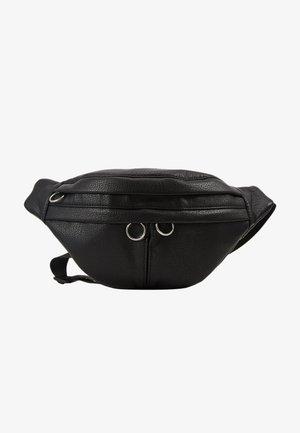 DOUBLE POCKET BUMBAG - Bum bag - black