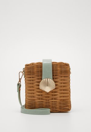 SHELL CROSSBODY - Sac bandoulière - brown/green