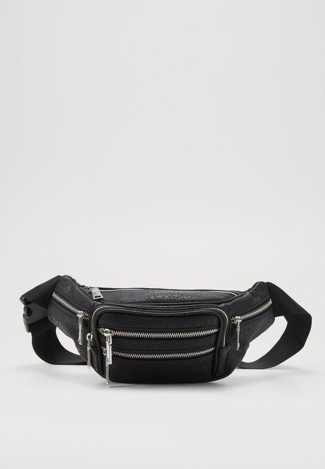 TUMBLED BUMBAG - Bæltetasker - black