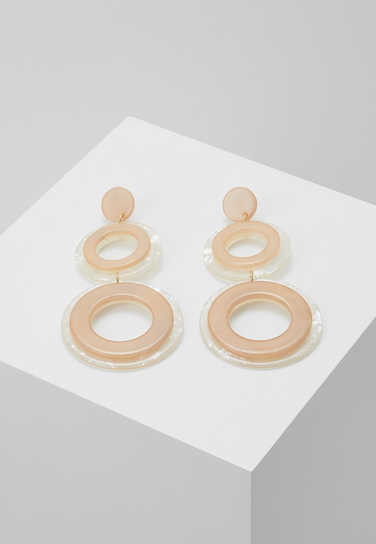 Topshop - CIRCLE DROPS - Ohrringe - peach