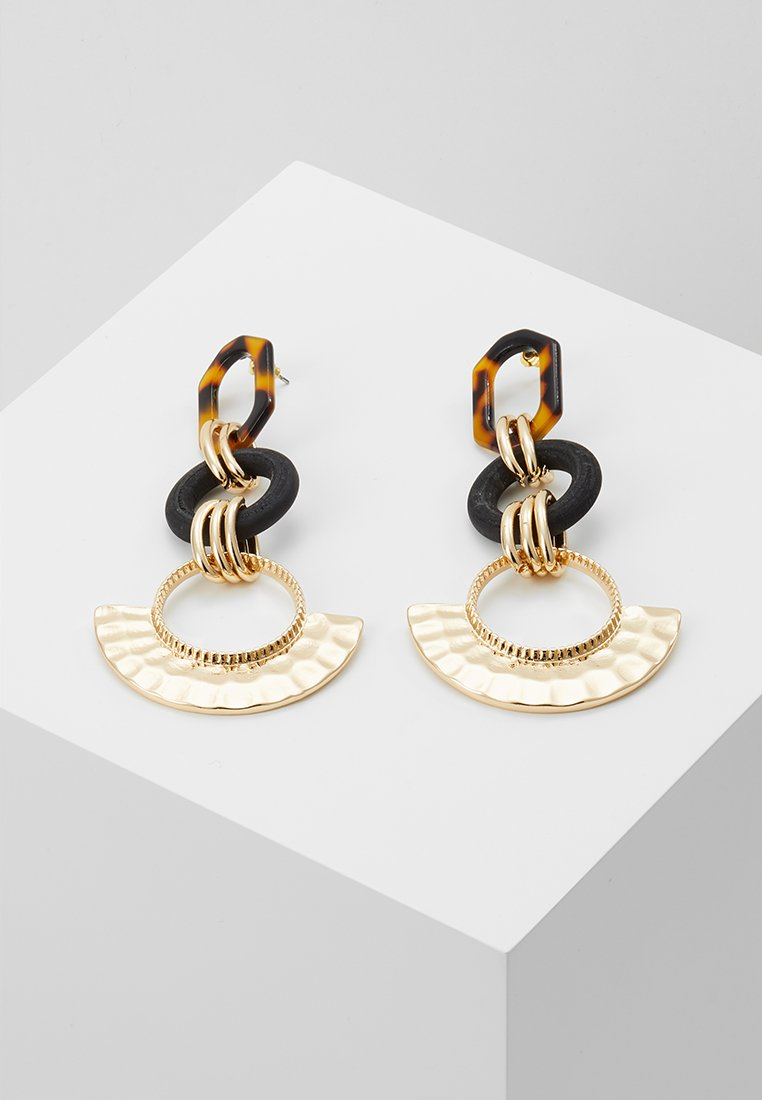 Topshop - TORT TEXTURE - Earrings - gold-coloured