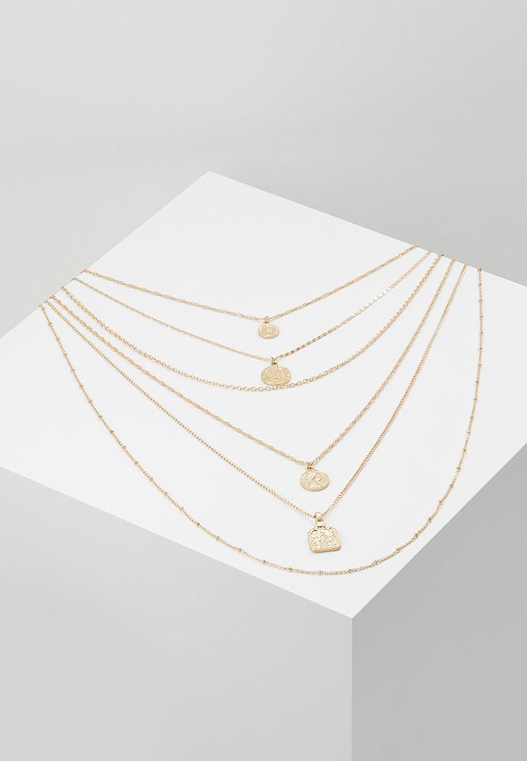 Topshop - MEGA COIN LAYER - Ketting - gold-coloured