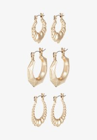 Topshop - BAMBOO HOOPS 3 PACK - Orecchini - gold-coloured - 3