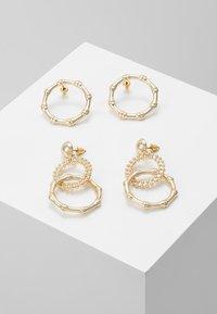 Topshop - 2 PACK - Boucles d'oreilles - gold-coloured - 0