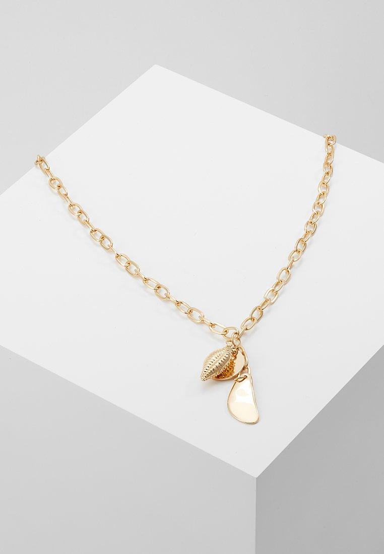 Topshop - SHELL CLUSTER LARIAT - Náhrdelník - gold-coloured