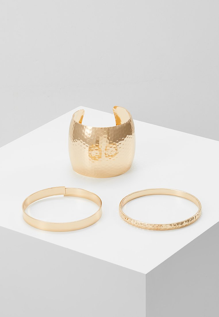 Topshop - HAMMERED DETAIL CUFF 3 PACK - Armband - gold-coloured
