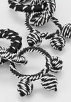 Topshop - WRAPPED LINK DROP - Ohrringe - black/white