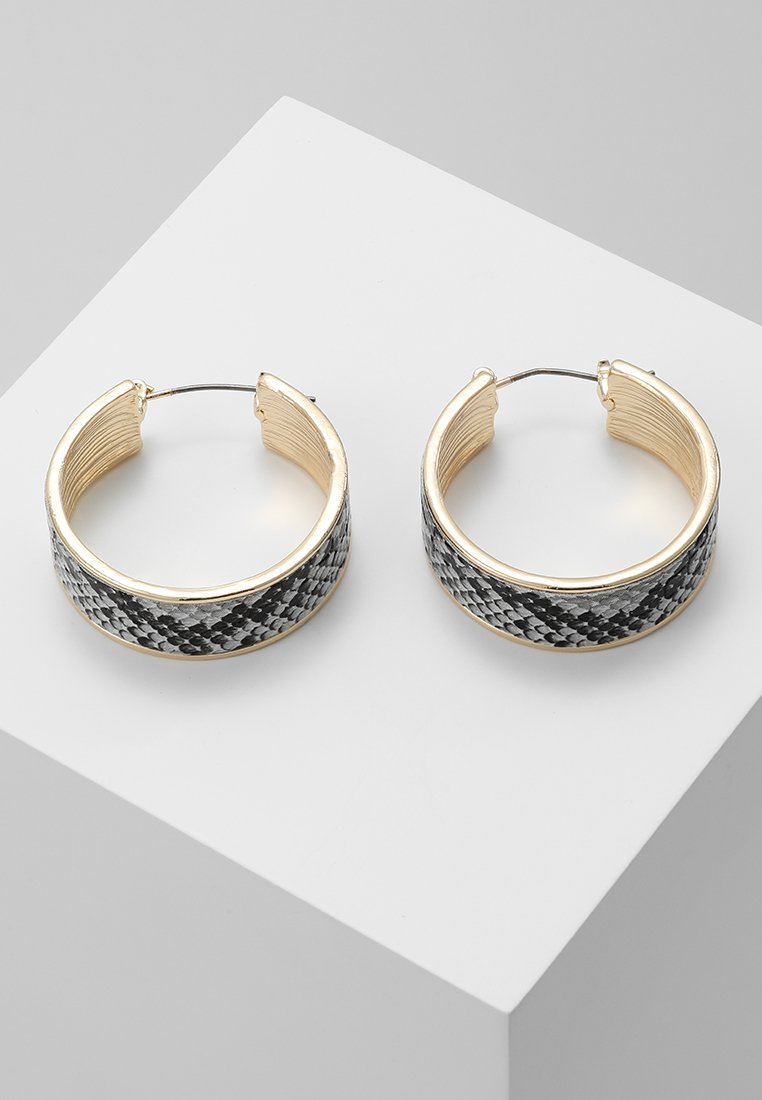 Topshop - THICK SNAKE INLAY HOOP - Earrings - grey